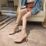 Short Boots Socks Sexy Sharp High-heeled Shoes