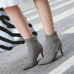 Boots Fashion Shoes Cloth Buckle Ankle Boots