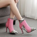 Mix-Colored platform boots New arrival sexy