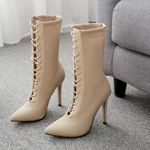 boots Mid-Calf new arrival leather platform boots