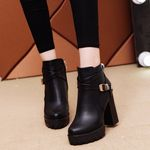 fashion Square heel winter boots waterproof classics