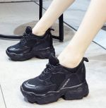 Chunky Sneakers Lace Up Platform Casual Shoes