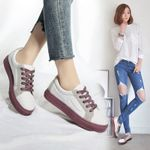 Vulcanized Canvas Casual Sneakers Fashion Lace Up Shoes