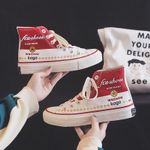 New Style Trendy Shoes Retro Hight-top Canvas Shoes