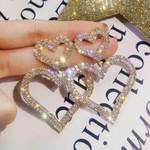 Luxury Fashion Glitter Heart Crystal Earrings