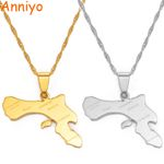 Bonaire Map and Village Pendant Necklaces Stainless Steel
