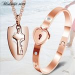 Fashion Bangles Couple Sets For Lovers Stainless Steel