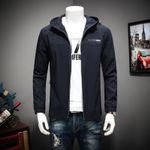 jackets brand-clothing black hooded coat top quality windbreaker