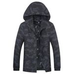 hooded casual Jacket Coat Trend Brand fashion Camouflage jacket