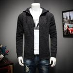 brand clothing fashion hoodie jacket coat male top quality