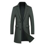 NEW luxurious Wool & Blends Long Woolen coat