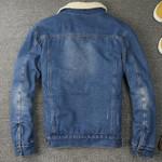 New Fashion Retro Fur Lining Jean Jackets Denim Coat