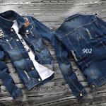Denim Jacket Slim Denim Clothes Retro teenagers