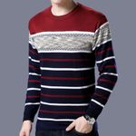 Fleece Sweater Long Sleeve Knitted Pullover