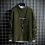 lattice Slim fit Men's Shirt Brand Knitte Sweater