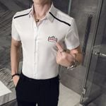 Casual Shirt Slim Fit Short Sleeve Dress Shirts