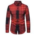 plaid long sleeve dress shirts new good quality