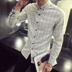 Casual Plaid Shirt Flannel Shirt Dress Shirts Fashion