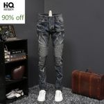 Punk Style Fashion New Straight Hole Ripped Jeans