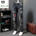 Jeans Famous Brand Luxury Embroidered Jeans