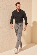 Trendyol Men 'S Relax Fit Destroylu Jeans