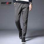Casual Slim Straight Fit Fashion Trousers Male Cotton