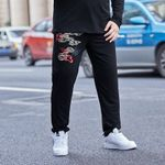 fitness pants solid color large size casual pants