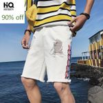 Fashion Streetwear Distressed Casual Shorts Hole Ripped
