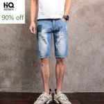 New Fashion Denim Shorts Hole Ripped Paint Jeans