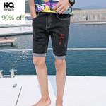 New Fashion Straight Knee-Length Denim Trousers