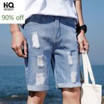 Casual Shorts New Fashion High Street Slim Fit