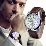 classic Mini pointer Fashion Luxury watches Faux Leather