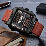 New Luxury Square Watch Sports Waterproof Military Wristwatches