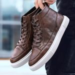 Genuine Leather Snow Boots Shoes With Vintage