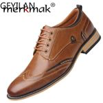 Casual Shoes Genuine Cow Leather Laceup Dress Shoes