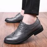 Dress Shoes high Quality Oxfords Shoes Lace-up breathable