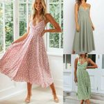 Boho Casual Long Maxi Evening Party Sleeveless Floral Beach Dress