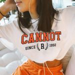 Letter Printed Tee Shirt O Neck Short Sleeve Vintage Short Tops