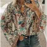 Boho Blouse Print Oversized Shirts Female Feminine Blouses