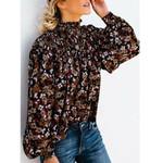 Hirigin Vintage Boho Floral Print Blouse Shirts