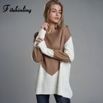 Fitshinling Korean Style Patchwork Pullovers Sweaters