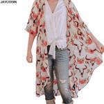 Casual Vintage Boho Kimono Cardigan Full Sleeve Blouse