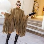 Zipper Turtleneck Boho Bohemian Fashion Tassel Loose