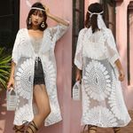 Boho Chic Long Kimono Cardigan Tops Beach Cover-ups