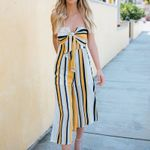 Boho Sexy Jumpsuit Backless Off Shoulder Stripe Bandage