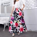 Long Skirt Clothes Harajuku Elegant Vintage Ropa Mujer