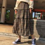 Plus Size Vintage Boho Long Skirt Ruffle Maxi Skirts
