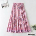 Long Floral Boho Party Beach Holiday Skirt Sundress Skirt
