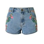 New flower embroidered shorts jeans Vintage