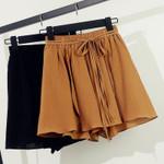 Shorts Elastic Waist Lace Up Beach Chiffon Shorts